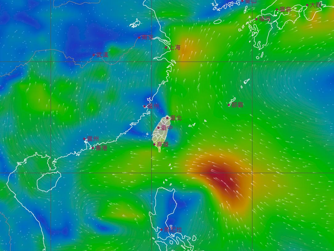 熱帶低壓即將通過巴士海峽 今晚到明天上午威脅最大