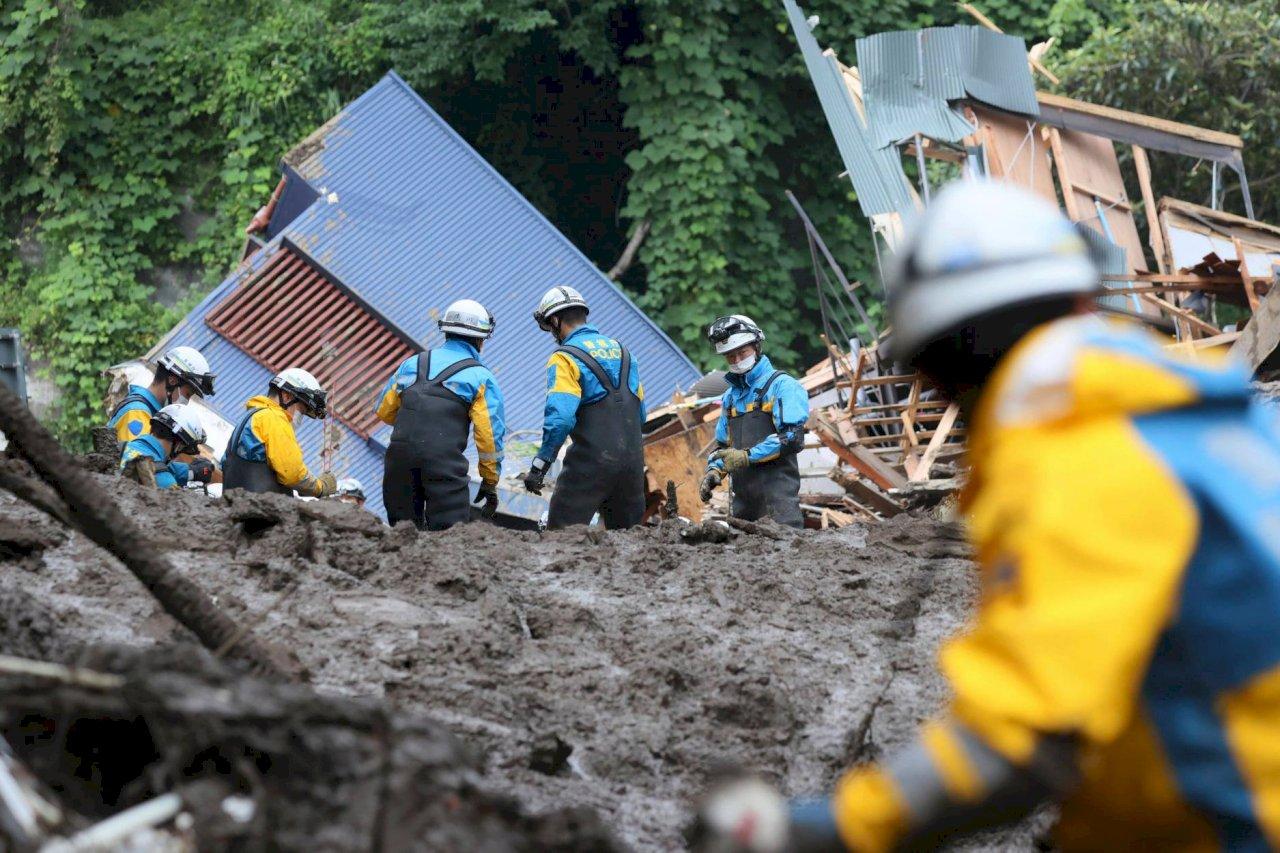 日本熱海市土石流累計3死 113人失聯待確認