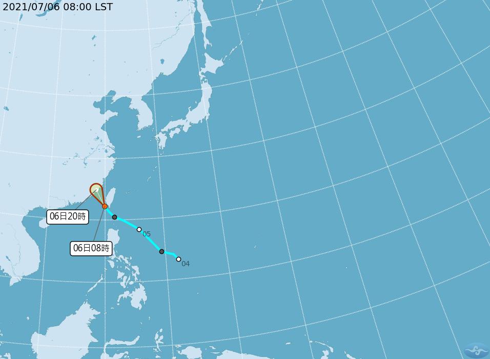 熱帶低壓移至台灣海峽南側 午後嚴防強陣風、雷陣雨