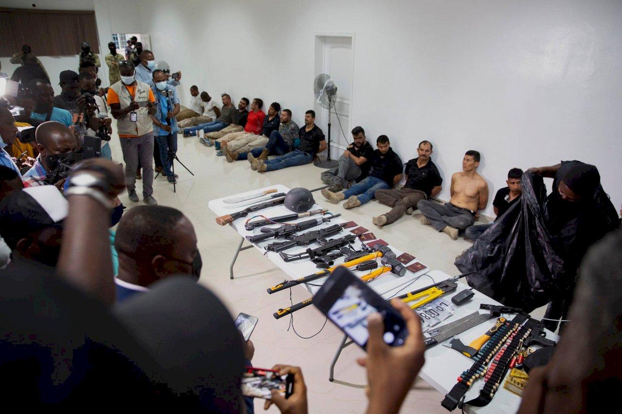 涉暗殺海地總統11傭兵闖台灣使館被捕