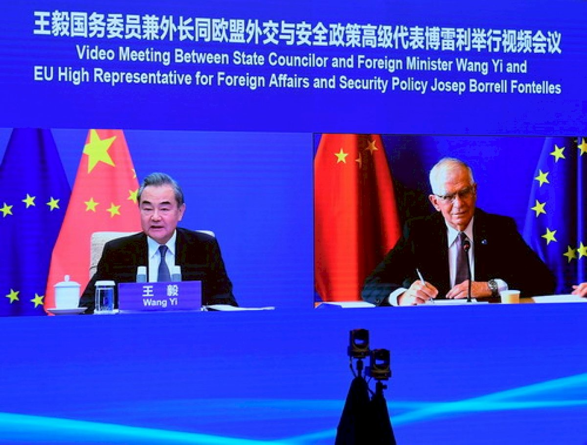 歐盟中國外長視訊會議 歐方表達憂慮香港新疆情勢