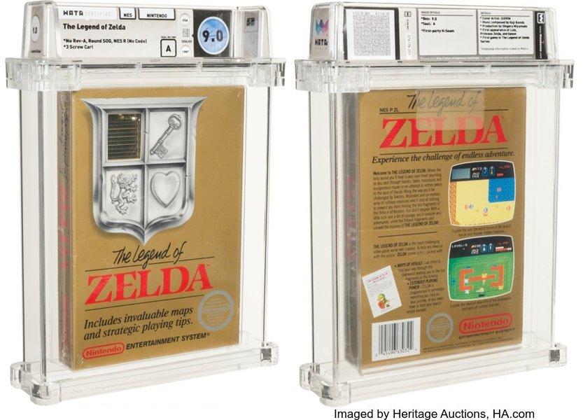 薩爾達傳說任天堂灰機卡匣 拍賣價創世界紀錄
