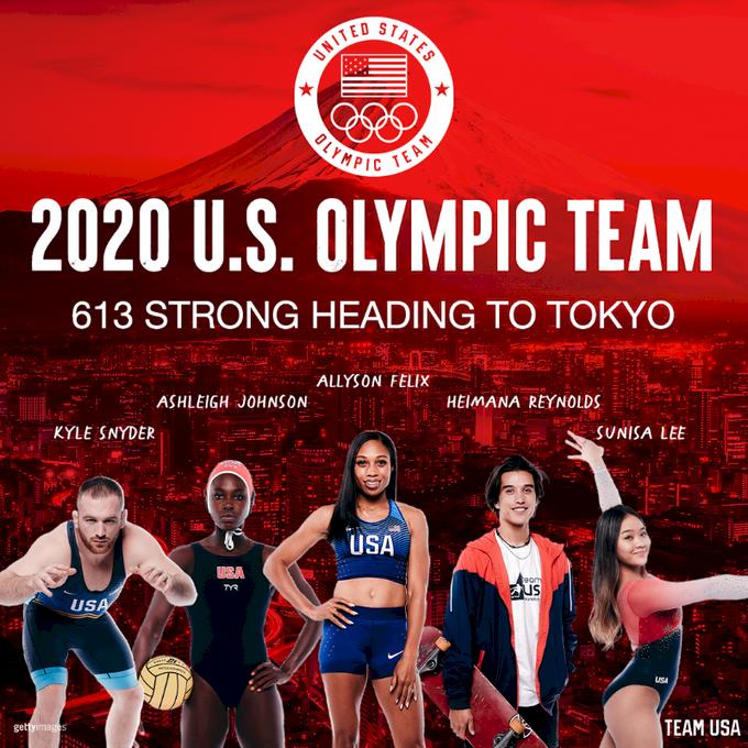美國613名運動員參加東奧 史上第二多