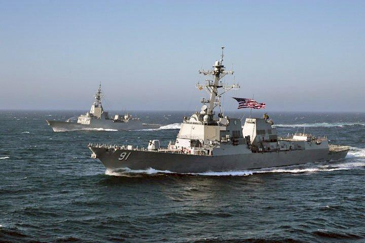 美驅逐艦、中國偵察艦現蹤花東外海 海軍嚴密監控
