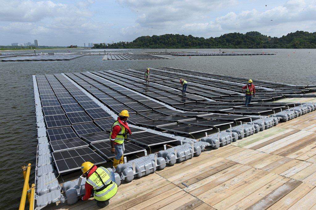 新加坡浮動式太陽能場揭幕 大幅減少碳排