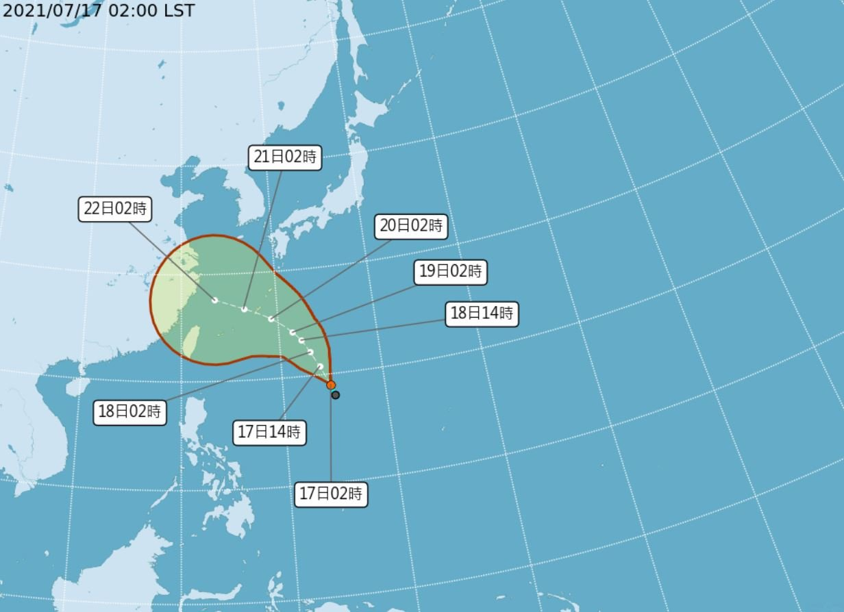颱風烟花最快今晚生成 22日最靠近台灣