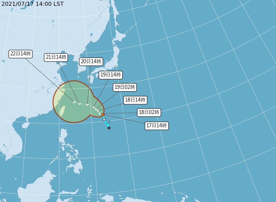 颱風烟花最快晚間生成 20日到22日影響台灣天氣