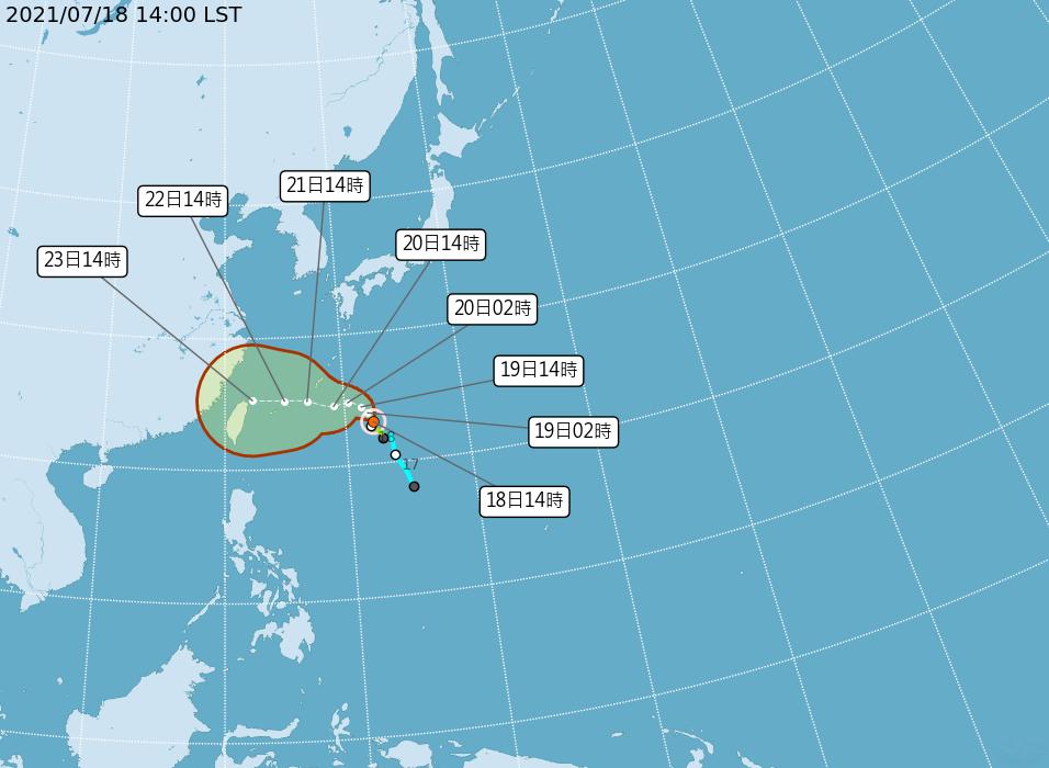 輕颱烟花可能升中颱  23日最近全台有雨