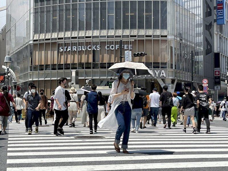 日本部分地區高溫逼近40度 氣象廳籲嚴防中暑