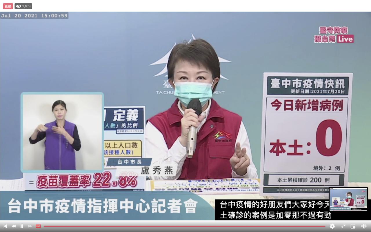 台中「社交距離管理員」成效佳 盧秀燕宣布:百貨、賣場及市場也要設置