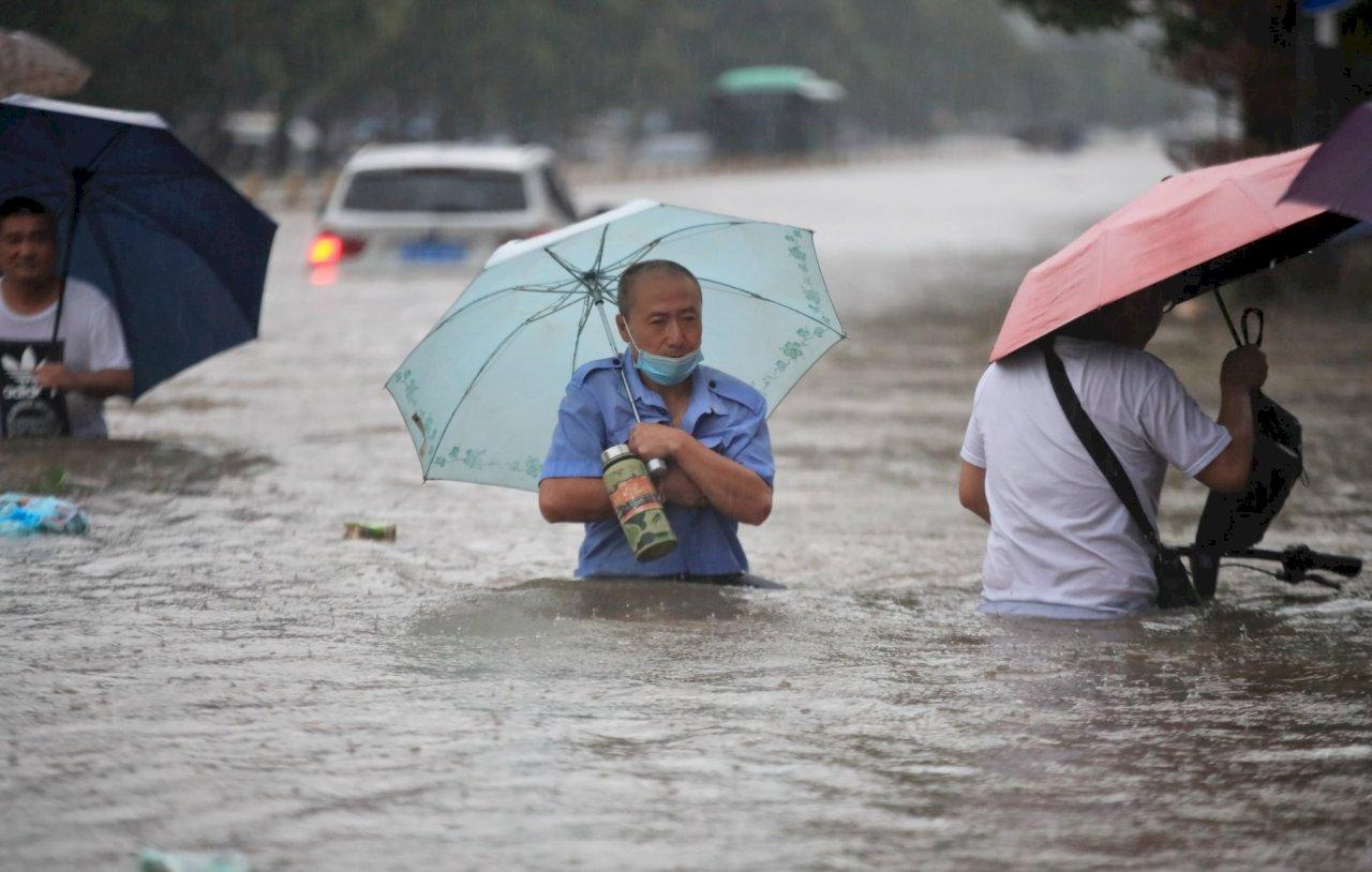 河南鄭州暴雨成災 蔡總統表達慰問與哀悼