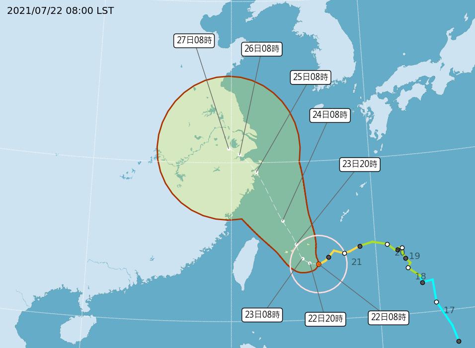 中颱「烟花」緩步進逼 陸警延至明天評估是否發布(影音)