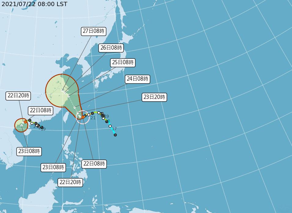 中颱「烟花」海警擴及台灣北部海面 「查帕卡」減弱為熱低 (影音)