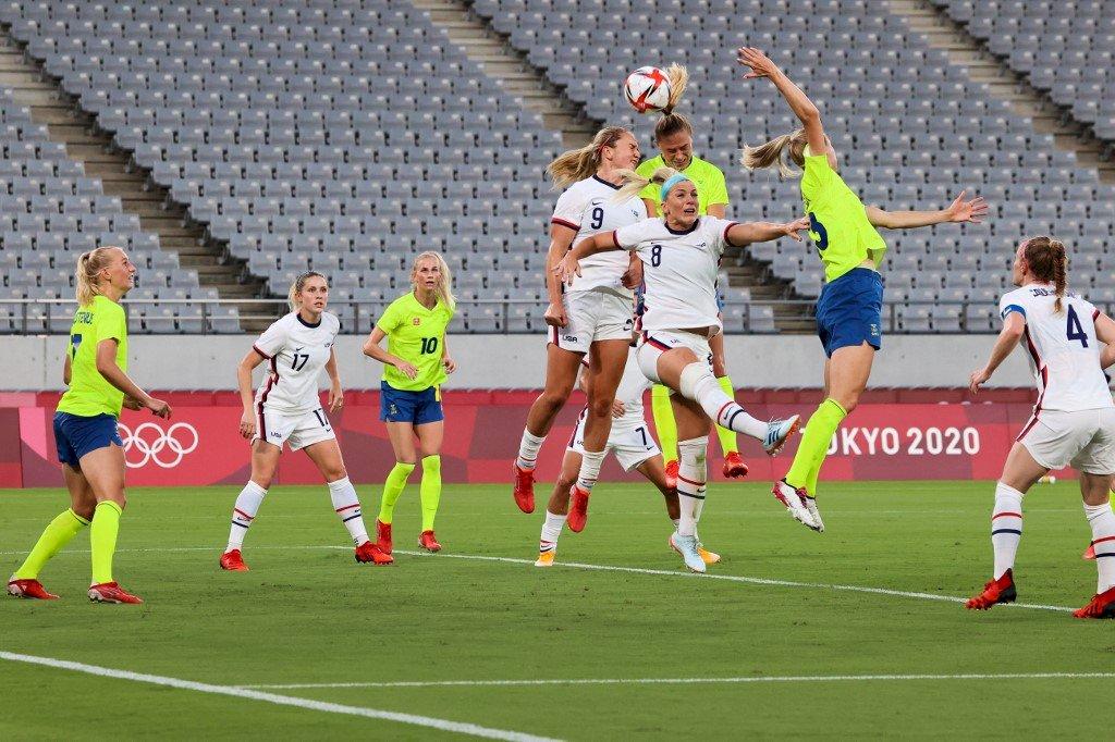 東京奧運女足爆冷 美國首戰0比3輸瑞典 (影音)