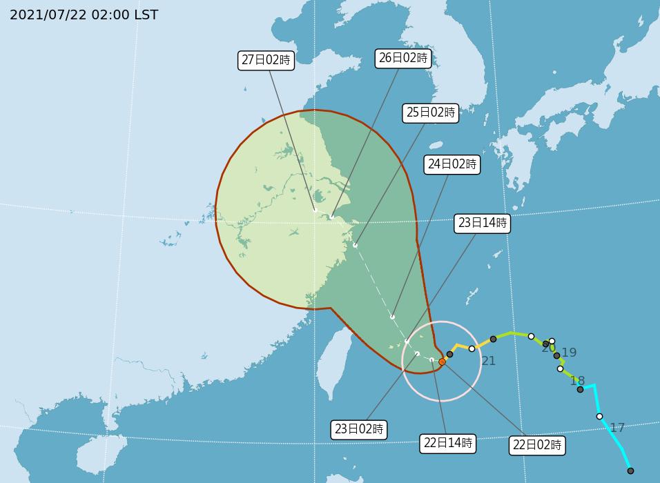 颱風烟花移動緩慢 氣象局:今發陸警機會不高