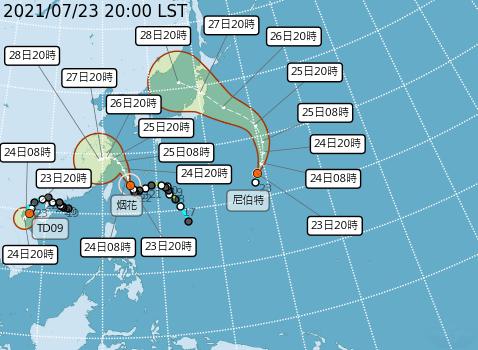 颱風尼伯特生成 對台無直接影響