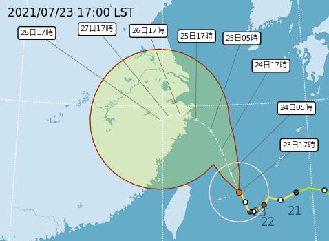 「烟花」暴風圈正進入台灣東北部及北部海面 全台戒備