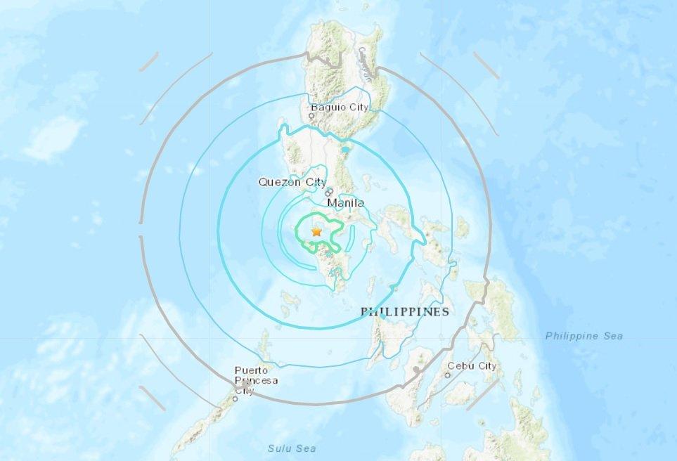 菲律賓馬尼拉南方 發生規模6.7強震