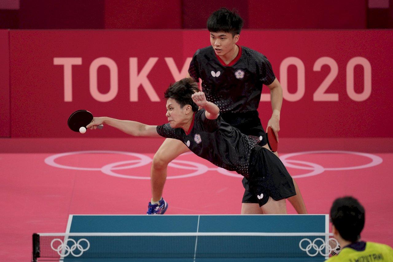 東奧桌球混雙4強賽 林昀儒鄭怡靜不敵日本組合