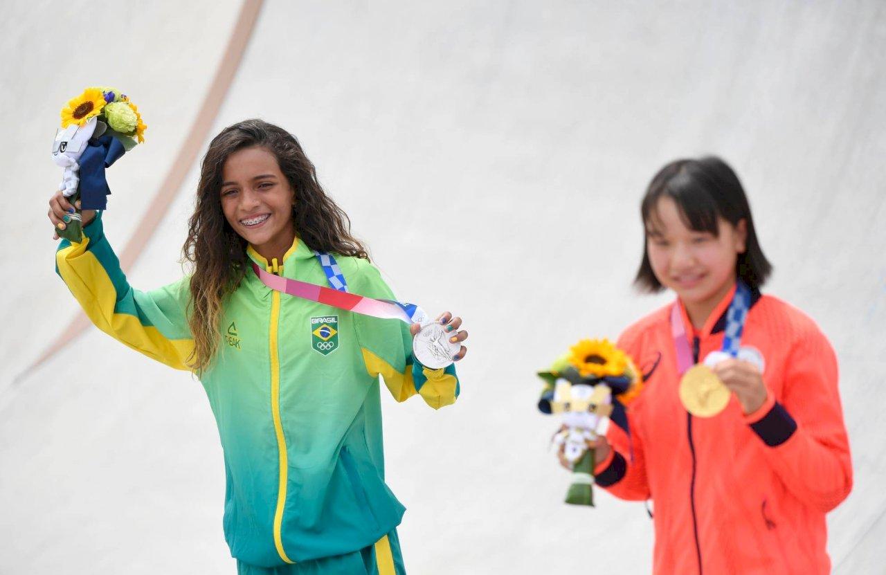 東奧女子滑板巴西奪銀 近代奧運史最年輕選手