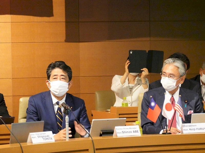 安倍晉三:發生在香港的事不能在台灣發生