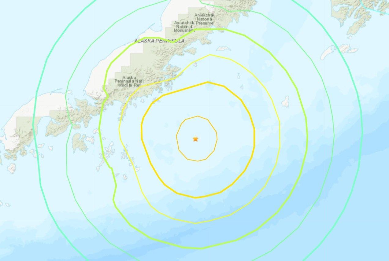 阿拉斯加外海規模8.2地震 發布海嘯警報