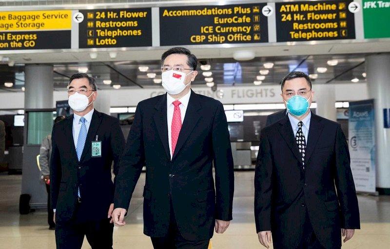 中國新任大使秦剛抵美 樂觀期待中美關係
