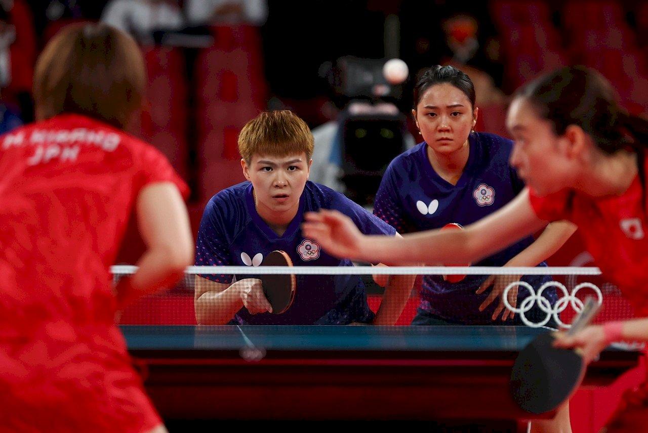 台灣不敵日本 東奧桌球女子團體8強止步