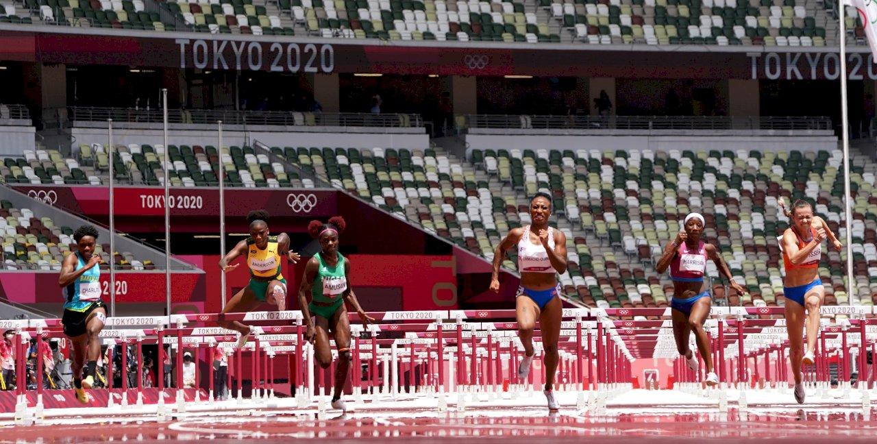 卡馬丘-奎恩贏百米跨欄 奪波多黎各奧運田徑首金