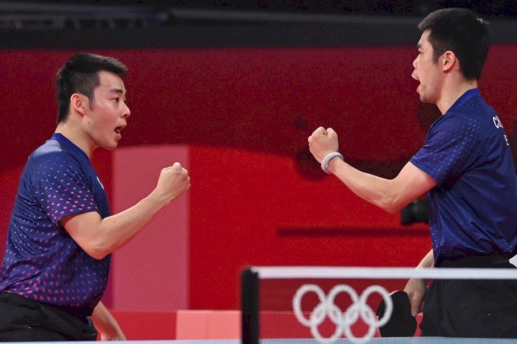 台灣桌球男團拍下克羅埃西亞   順利挺進8強