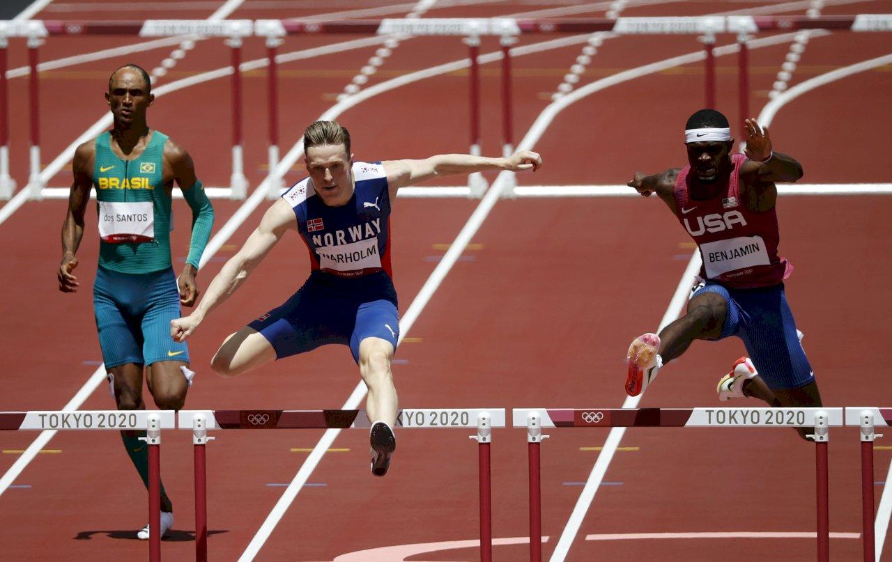 東奧男子400公尺跨欄 挪威沃霍爾刷新紀錄奪金