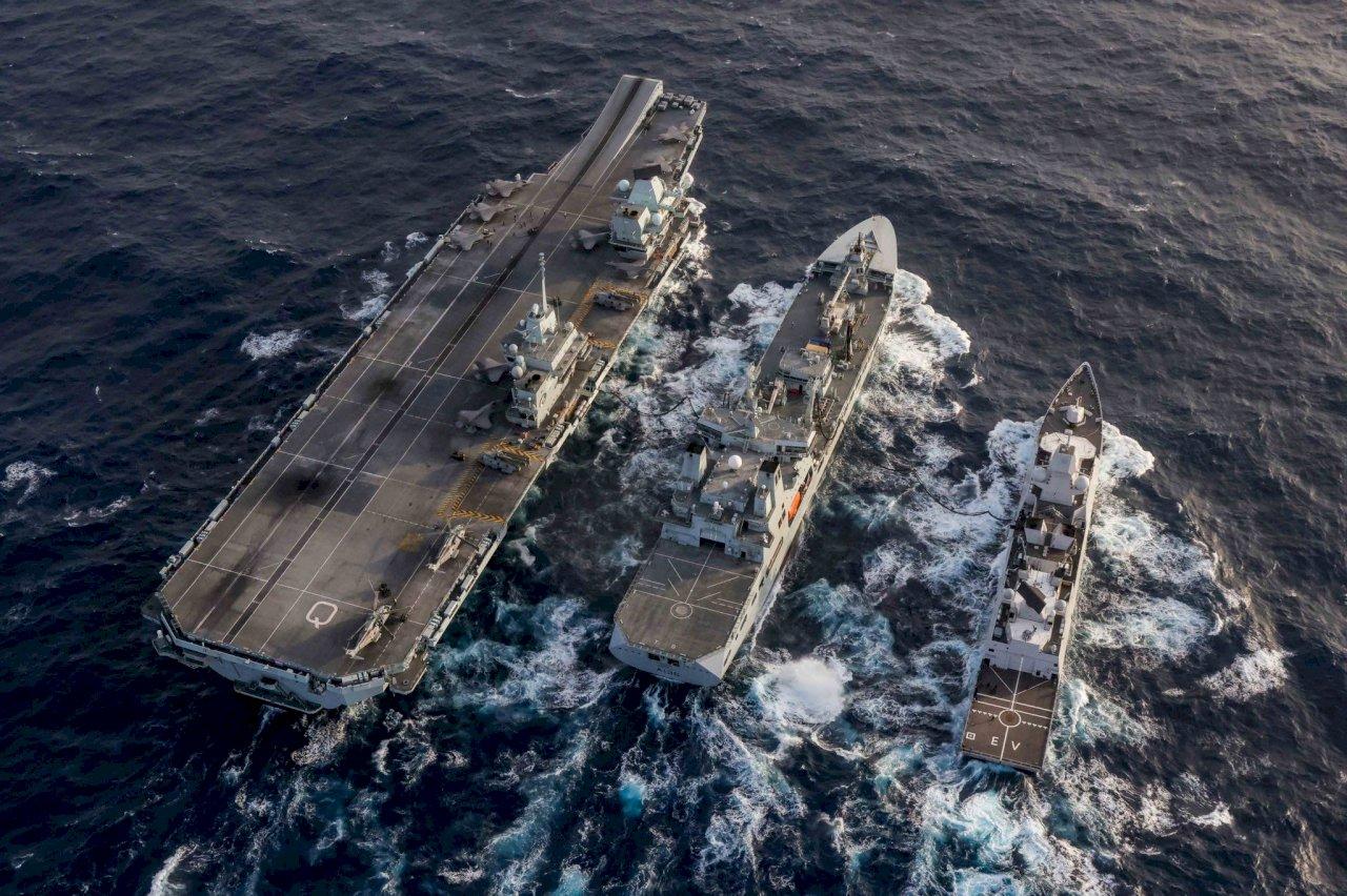 英航艦抵西太平洋 指揮官日、韓語推文凸顯區域合作