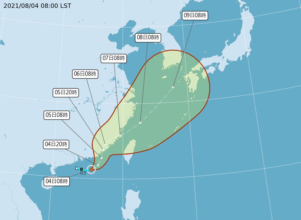 輕颱盧碧形成 估今晚發布海警  陸警尚待觀察