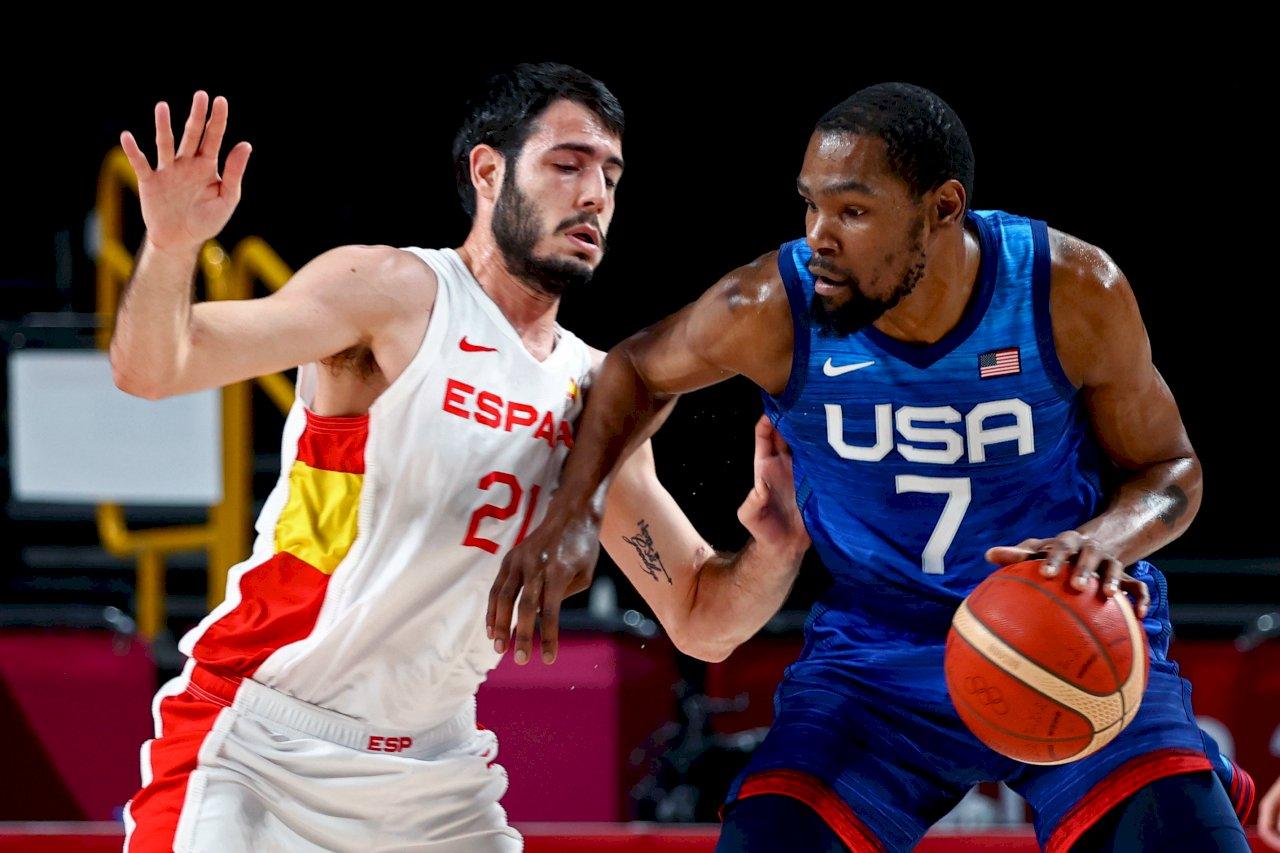 杜蘭特帶動反攻 東奧男籃美擊敗西班牙進4強