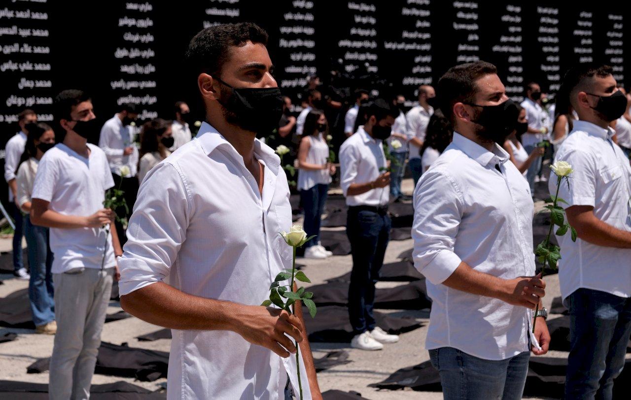 貝魯特大爆炸一週年 黎巴嫩民眾既哀悼又憤怒