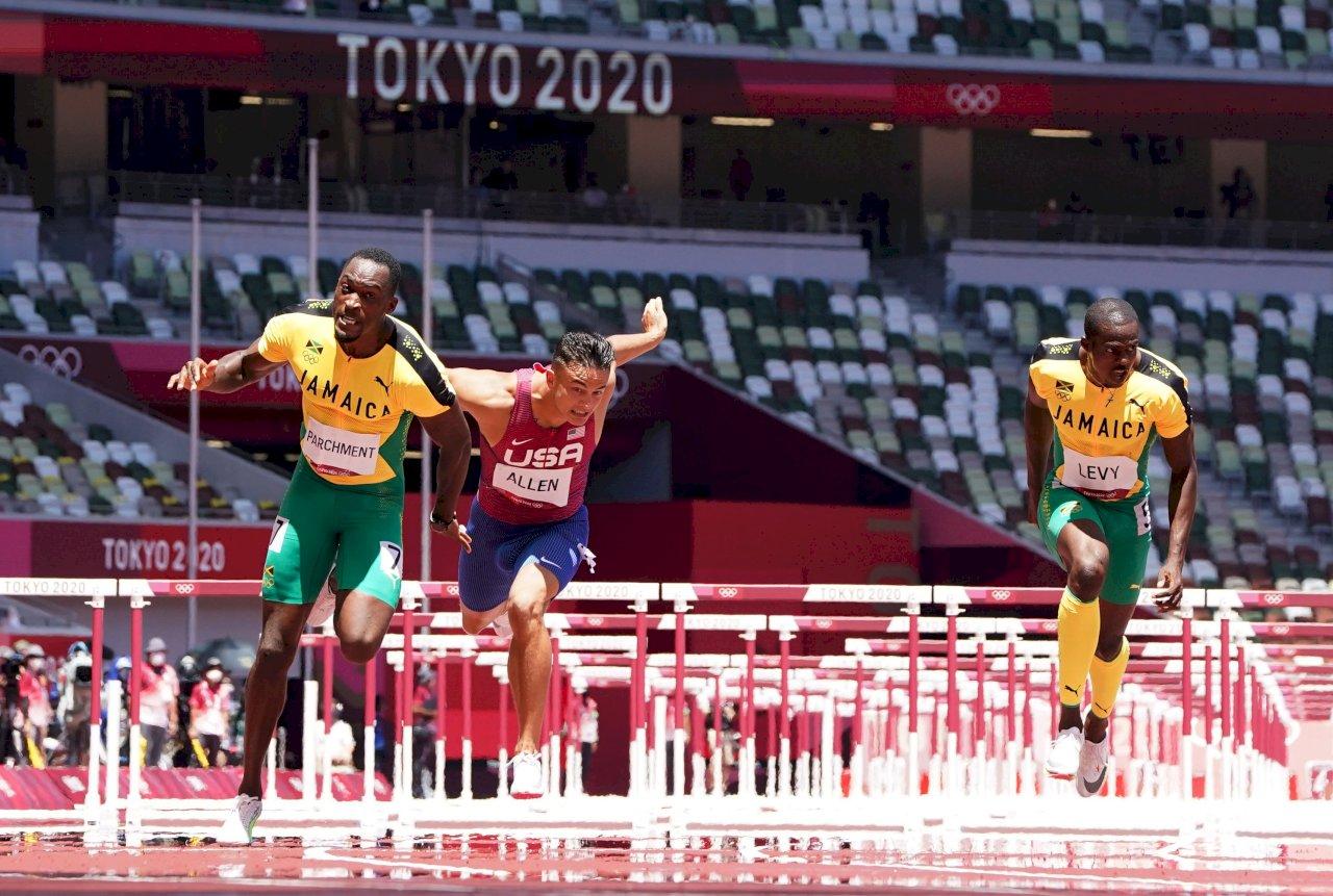 東奧男子110公尺跨欄 牙買加包辦金銅美國奪銀