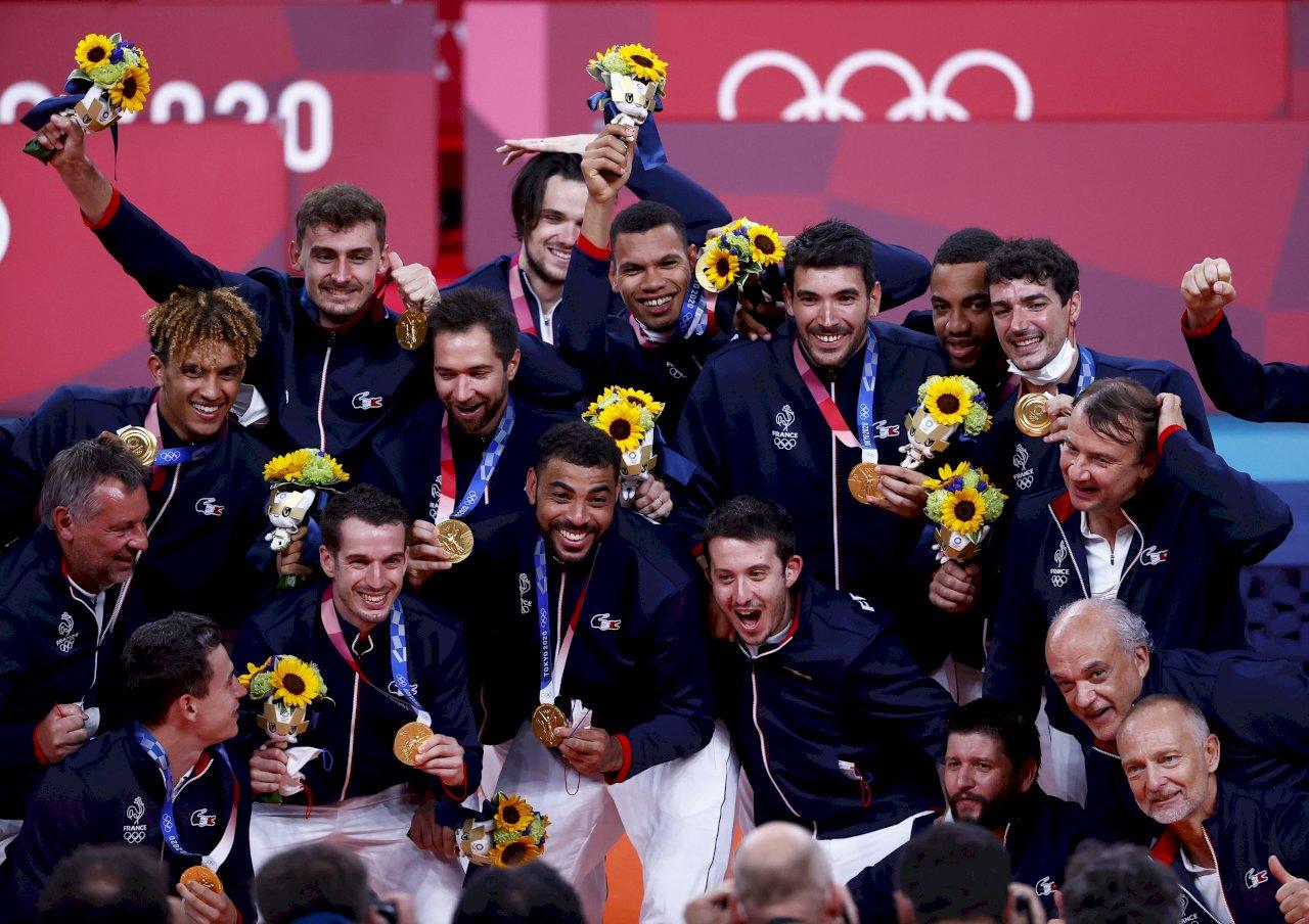 東奧男排決賽 法國擊敗俄羅斯奪首金
