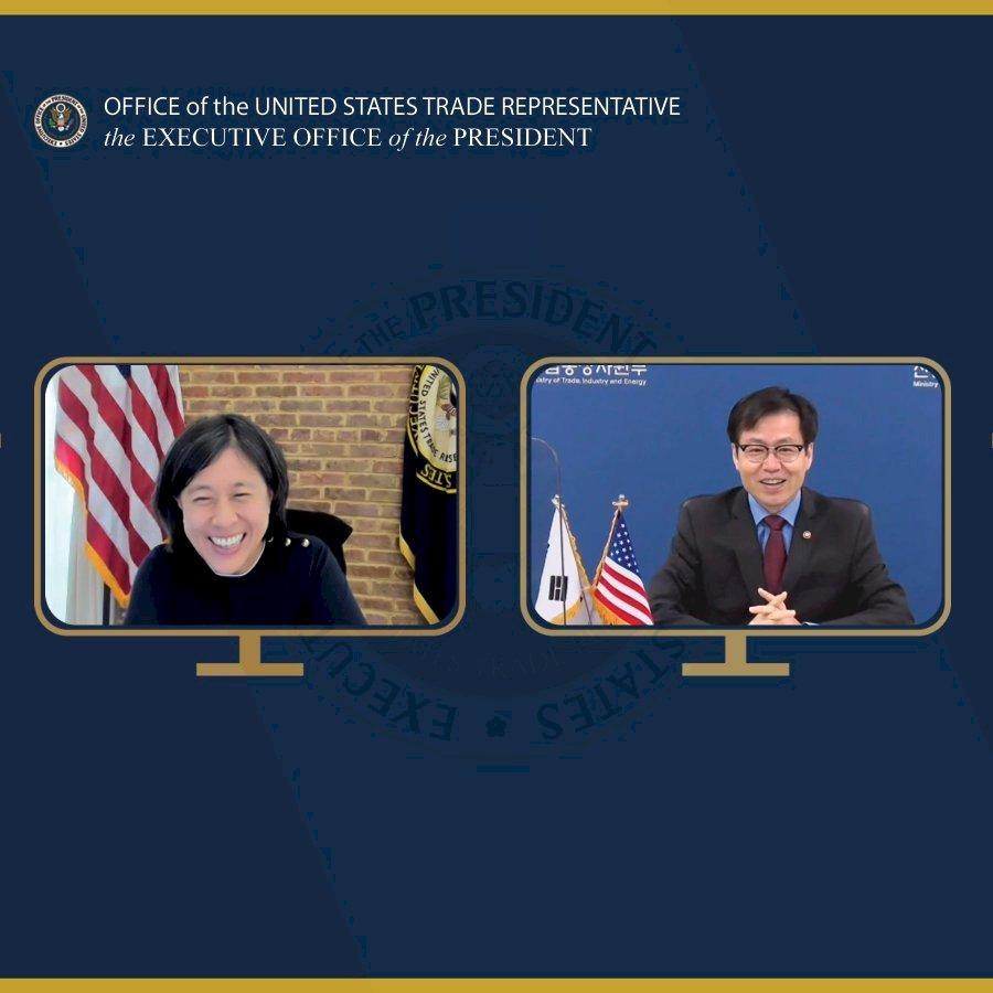 美韓貿易官員 討論供應鏈、氣候變遷等議題