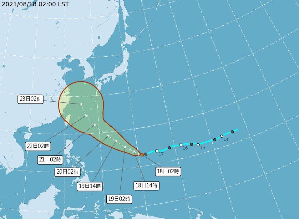 氣象局:熱帶低壓減弱 成颱機會大大降低