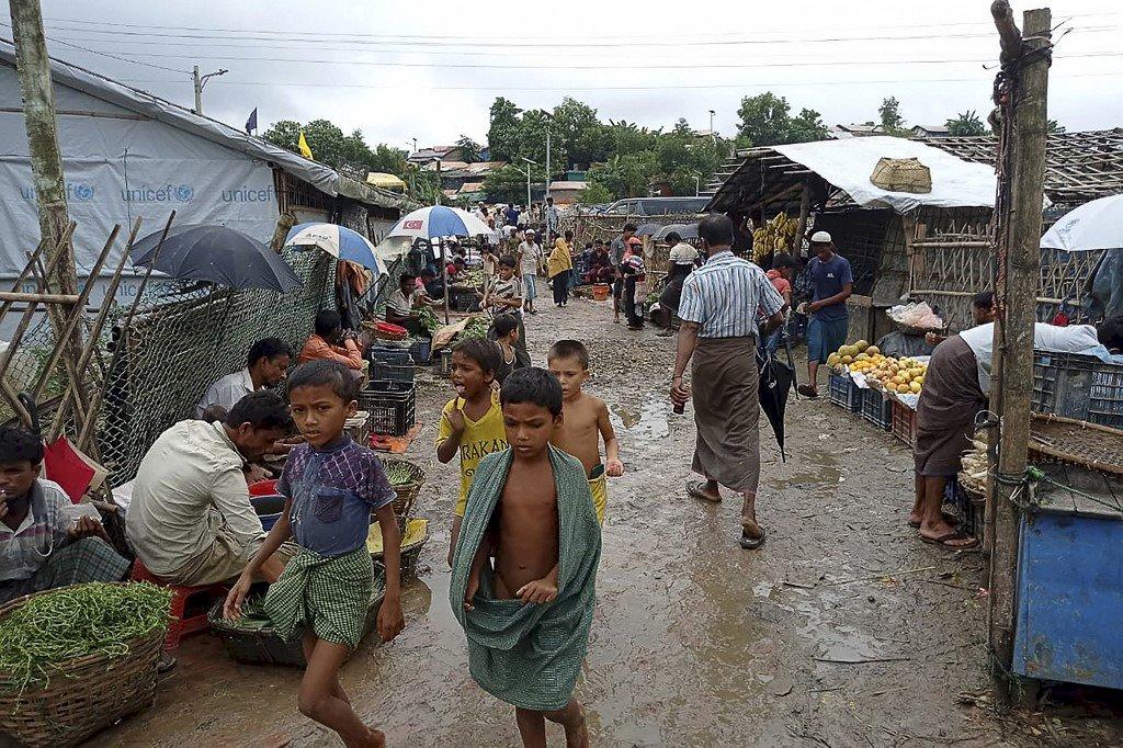 種族滅絕四週年 洛興雅兒童難民營中示威