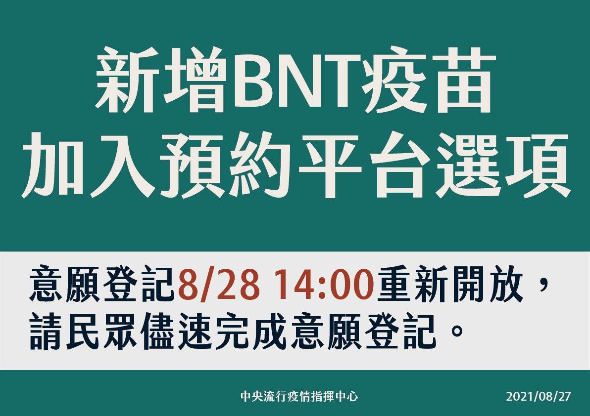 195萬劑BNT九月初抵台 將優先給學生接種