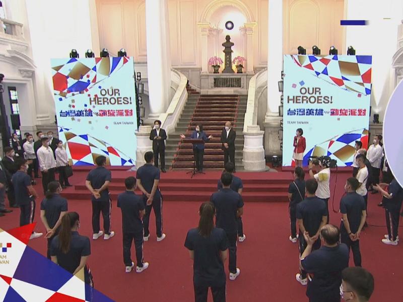 凱旋派對迎東奧台灣英雄 總統:黃金計畫持續 政府支持只增不減(影音)