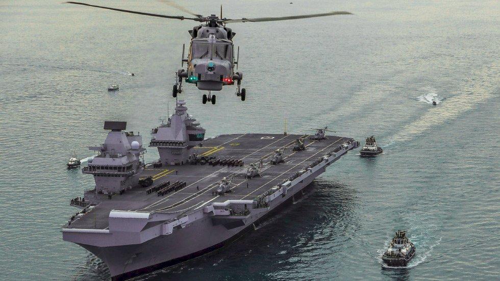 英國新航艦到訪日本 展現對印太安全的承諾