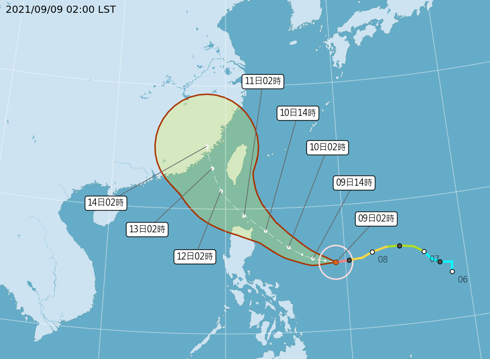 璨樹增為強颱11日起全台警戒 今午後山區雷陣雨