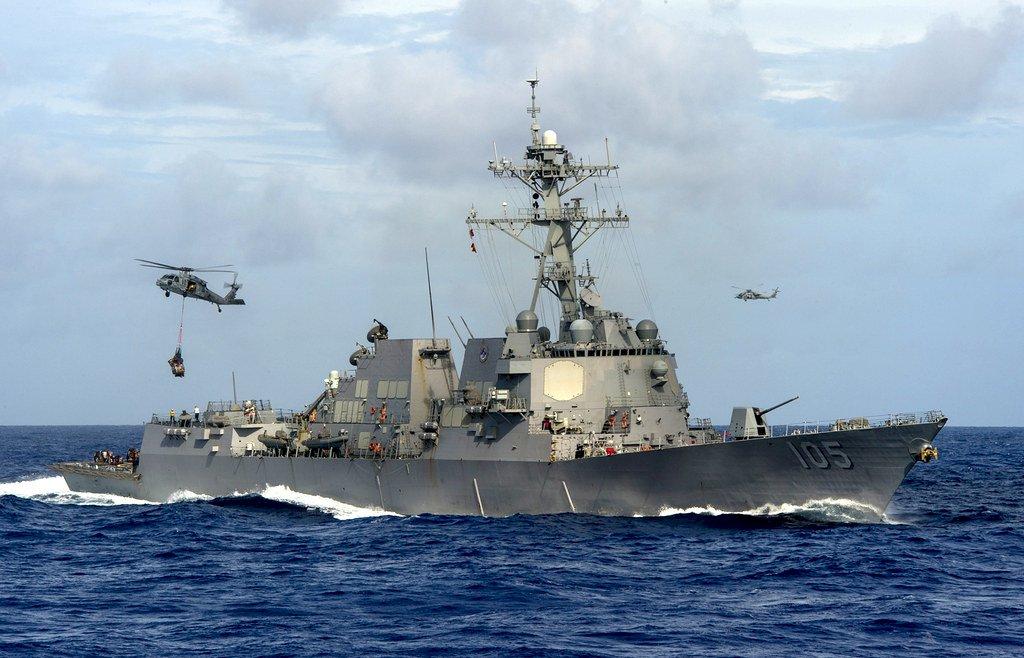 第七艦隊再添生力軍 美神盾驅逐艦杜威號抵日本