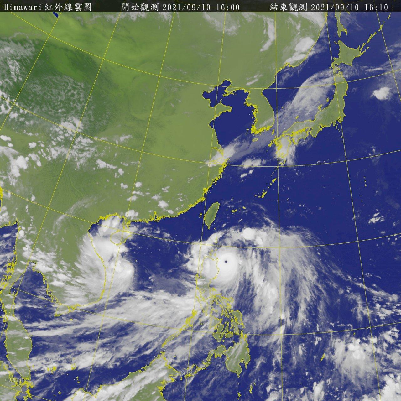 「璨樹」增強變壯、海警範圍再擴大 陸警17:30發布