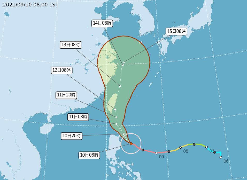 強颱「璨樹」中心恐掠過台灣東部近海 估下午到晚間發布陸警