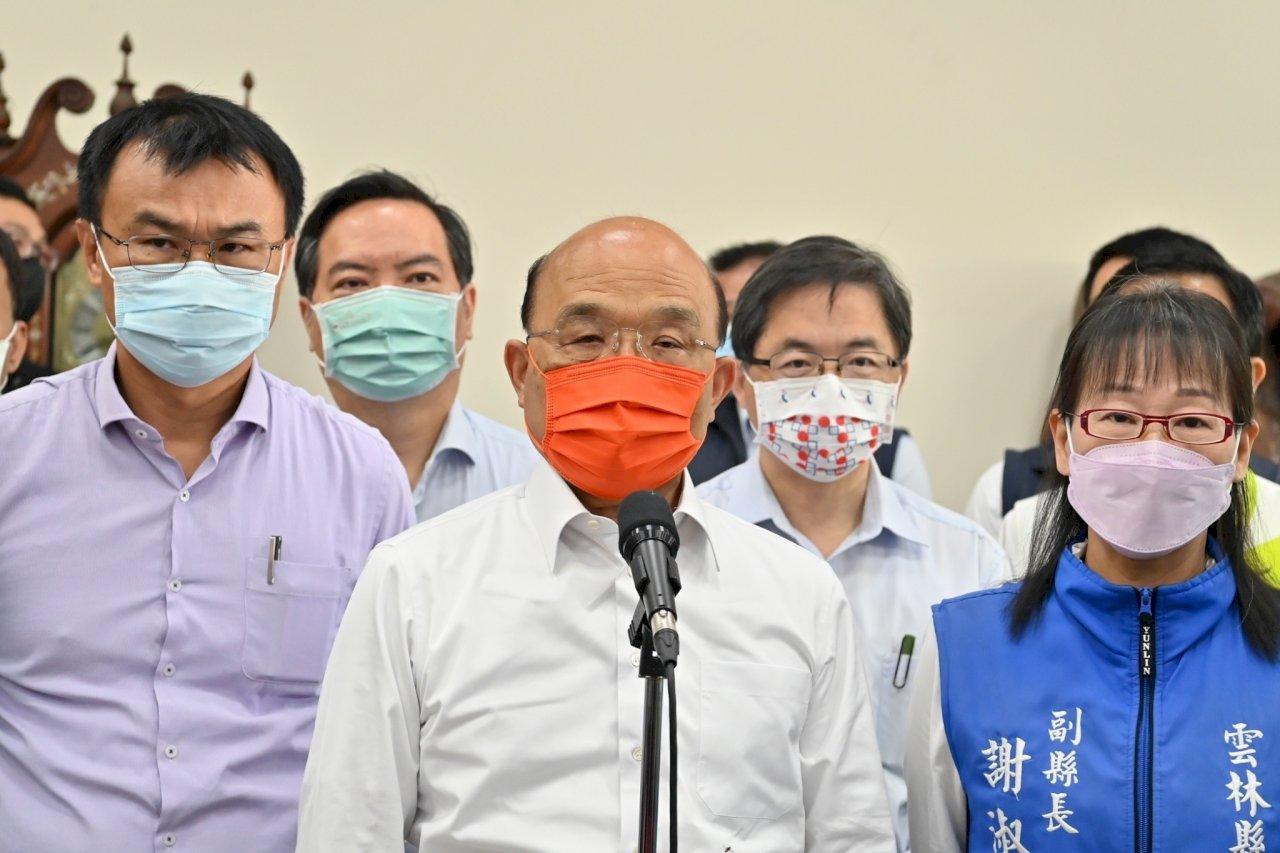 台北某國中傳疫情 蘇揆:疫情漸緩 目前沒有升三級條件
