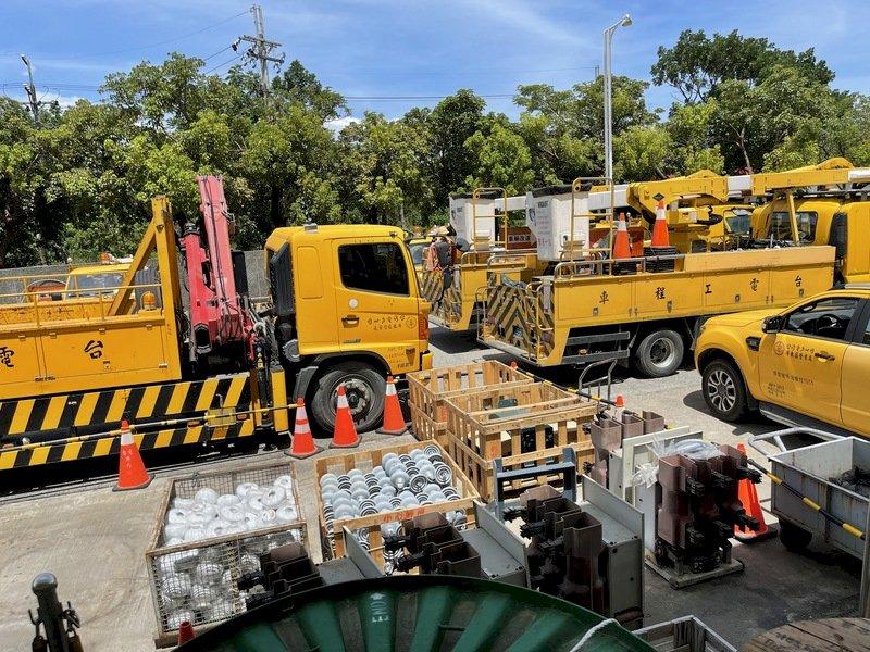 應戰強颱璨樹 台電動員超過6,400人待命搶修