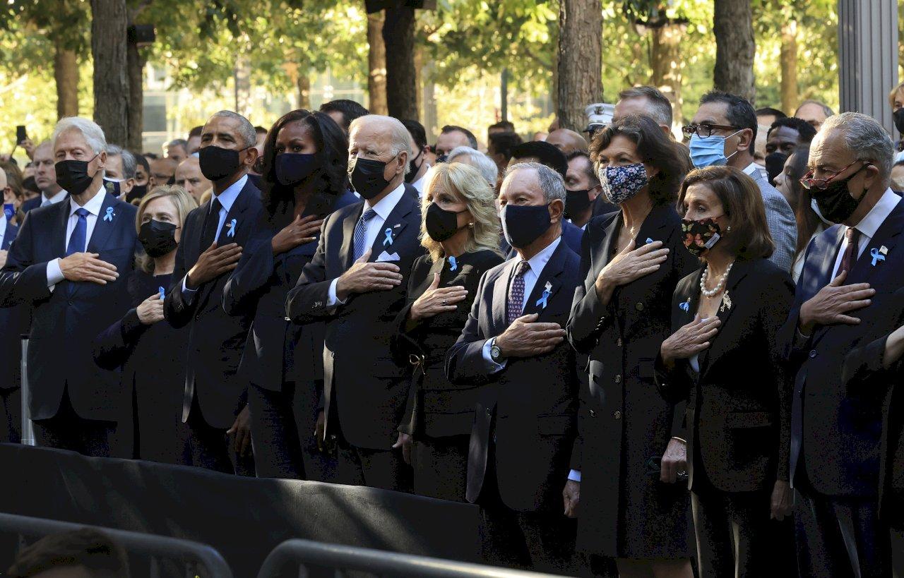美國紀念911事件二十週年 拜登和歐巴馬出席紐約紀念典禮